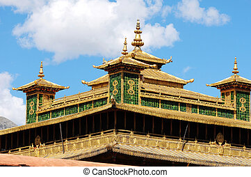 Golden roofs of a historic lamasery
