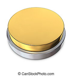 Golden Round Button with Metallic Ring