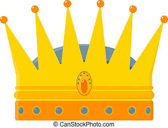 Golden royal crown - vector illustration