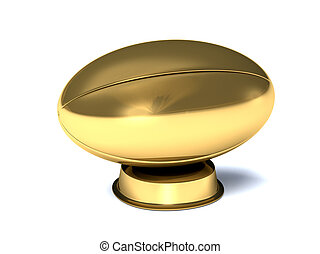 Golden rugby trophy