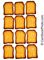 Pattern of golden rusk