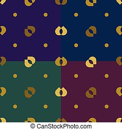 Golden rustic pattern