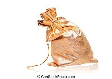 golden sack over white