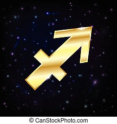 Golden Sagittarius zodiac sign