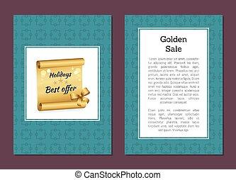 Golden Sale Holiday Offer Discount Voucher Promo - Golden...