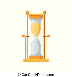 Golden sand hourglass, sandglass device for measuring time...