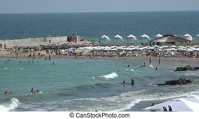 Golden Sands beach in Bulgaria. Zlatni Piasci. - Golden...