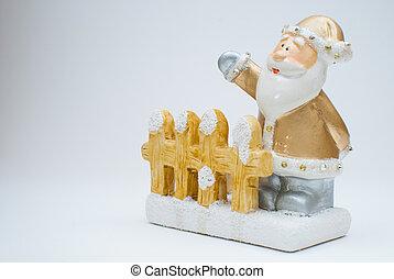 Golden Santa Claus figurine