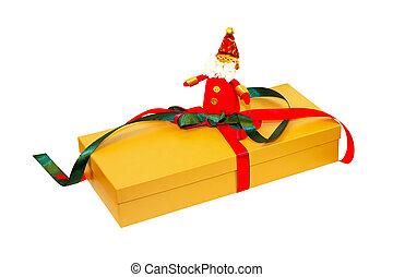Golden Santa gift