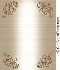 Golden satin invitation template - Golden satin-look...