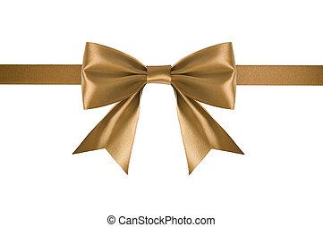 Golden satin ribbon