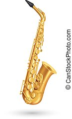 Golden Saxophone Illustration