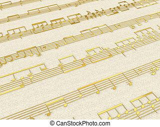Golden score background