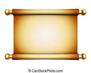 golden scroll parchment