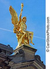 Golden sculpture in Dresden