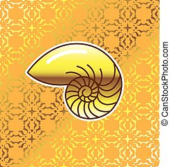 Golden Sea Shell Nautilus
