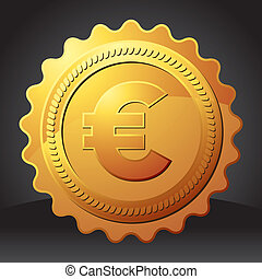golden seal with euro sign