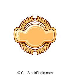 golden seal with leafs crown
