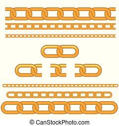 Golden seamless chain