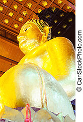 Golden Seated Buddha Image