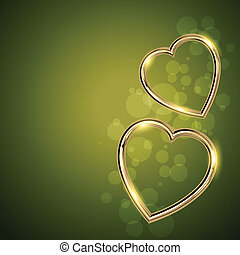 golden shape heart