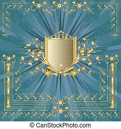 shield - golden shield design