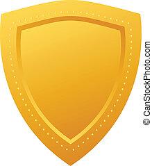 Golden shield - Blank golden shield
