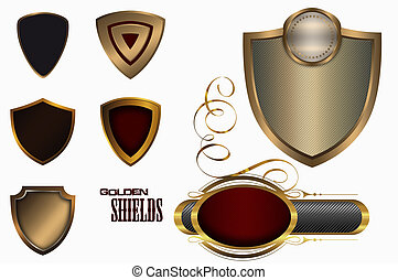 Golden shields.