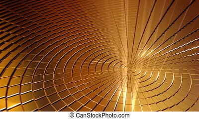 Golden Shine Circle Background