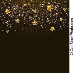 Golden shining stars