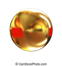 Golden Shiny button