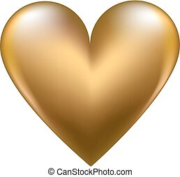 Golden shiny heart