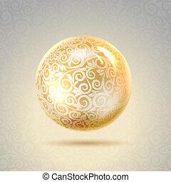 Golden shiny perl