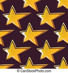 Golden shooting star seamless pattern