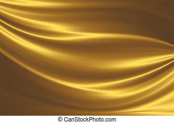 golden silk - elegant abstract background with smooth lines