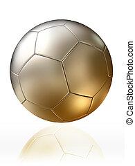 golden silver soccer ball