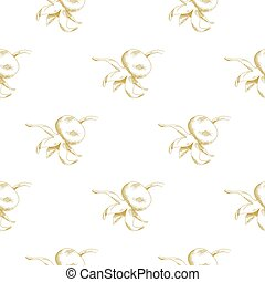 Golden sketch briar decor seamless pattern. Vector ...