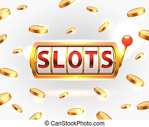 Golden slots machine wins the jackpot.