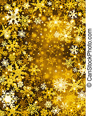 Golden Snow Background