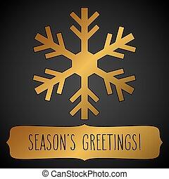 Golden snowflake Season's greetings