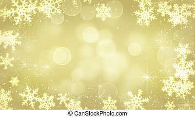 golden snowflakes and blinking star