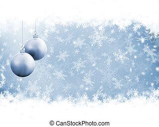 Golden snowflakes - Golden background of falling snowflakes