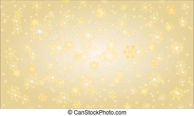 Golden snowflakes video