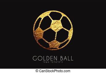 golden soccer ball. golden football. football logo. soccer logo