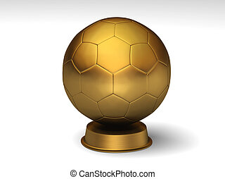 Golden soccerball trophy