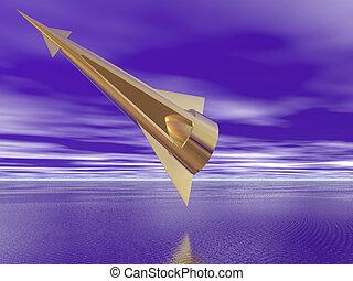 Golden Spaceship