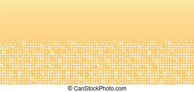 Golden sparkles horizontal seamless pattern background