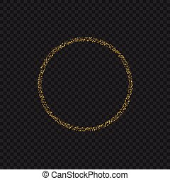 Golden sparkles ring - Golden magic sparkles circle ring....