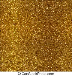 Golden sparkling background. Vector illustration with shiny texture.