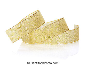 Golden sparkling christmas ribbon
